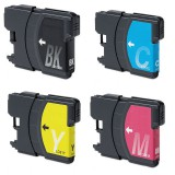 4 LC61 Ink Cartridges (1 Set) For Brother 290C J265W J410W J415W J615W4