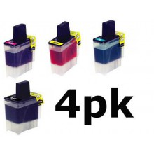 4 LC41 Ink For Brother DCP-110c DCP-310cn MFC-210c