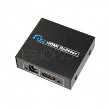 1x2 Port HDMI 1080p Splitter Hub Amplifier Repeater for Cable Box HDTV DVR HDCP