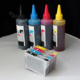 Refillable cartridges & Extra set ink 127 For WorkForce 635 645 840 845