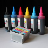 Refillable ink cartridges and an Extra set of high quality refill ink bottles 98 / 99