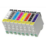T087 8 packs Compatible ink cartridges Epson Styus R1900 T0870 T0879 Ink (1SET)