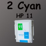 2 cyan ink Cartridge 11 For HP Printer 1100 1200d HP11