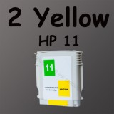 2 yellow ink 11 For HP Printer 1100 1200d 100plus HP11