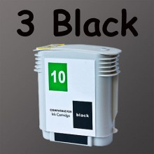 3 PACK ink HP10 For HP Printer C4844A #10 High Yield