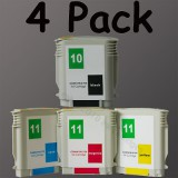 HP 10/11 1 Set ink Cartridge For HP Printer HP10+HP11