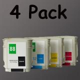 HP88XL 4 ink For HP K550 K5400 L7500 L7600 L7700