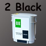 2 black ink 88XL HP88 For HP L7550 L7580 L7590 Hi-cap