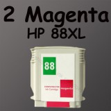 2 magenta ink 88XL 88 HP 88 For K5400 L7650 L7680 L7700