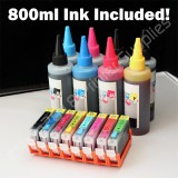 CLI8 Refillable CARTRIDGE KIT for CANON Pixma Pro 9000 800ml ink included