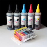Refillable Cartridge Kit PGI-250 CLI-251 for Canon PIXMA MG5420 MX922 500ml Ink