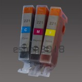 CLI-221 3 Color Ink W/chip for Canon MX860 MP980 IP4600