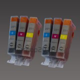 CLI-221 6 Color Ink W/chip for Canon MX860 MP620 IP4600