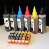 r220/221 Refillable CARTRIDGE KIT for CANON Pixma MP980 MP990 600ml refill ink