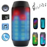 Portable Wireless Bluetooth4.0 PULSE LED Light Stereo Speaker For Phone Tablet
