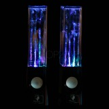 LED Dancing Water Music Fountain Light Speakers  - Black