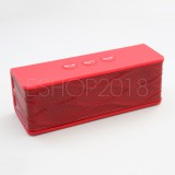 BT-25S Wireless Portable Stereo Bluetooth HiFi Speakers for iPhone iPad Samsung -Red